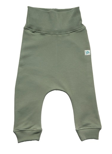 Nila Kids Koyu Yeşil Rengi Erkek Bebek Organik Fit Pantalon NK4004KY (3 AY - 5 YAş) Renkli